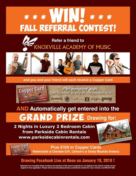 Referral Contest - Knoxville Academy of Music