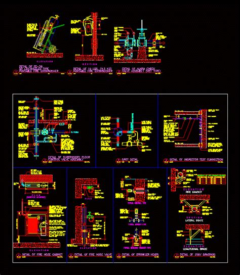 Fire Protection Detail DWG Detail for AutoCAD • Designs CAD