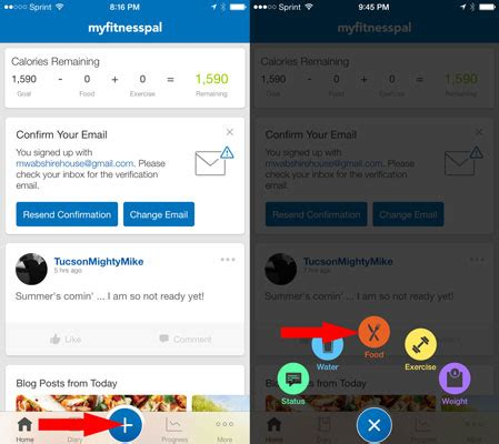 How to Use the MyFitnessPal Food Diary - dummies