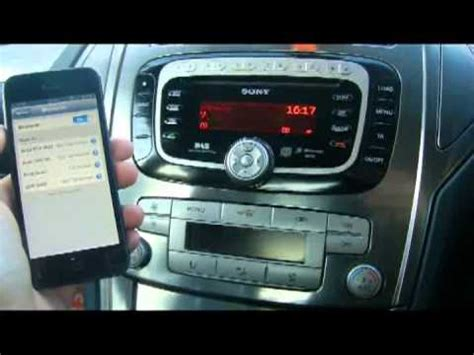 How to pair mobile phone via Bluetooth to Ford Mondeo with