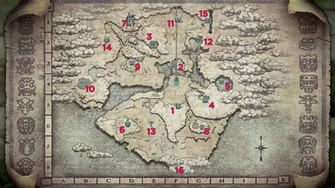 Shadow of the Colossus boss maps and locations - Polygon
