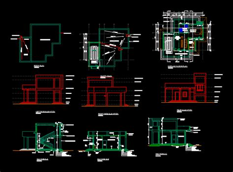 House on one level in AutoCAD | CAD download (862